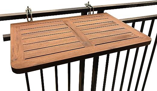 Tavolo Pieghevole Da Terrazzo.Click Deck Tavolo Pieghevole Da Balcone In Legno Massiccio Da
