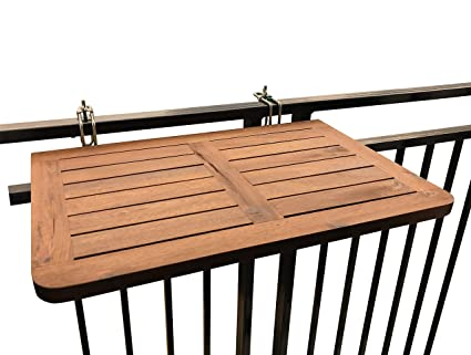Click Deck Balcony Table Hardwood Table Folding Table Hanging