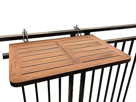 Tavoli Da Balcone Pieghevoli.Click Deck Tavolo Pieghevole Da Balcone In Legno Massiccio Da Appendere Alla Ringhiera Adatto Per Cene In Giardino E Barbecue O Come Tavolino Di