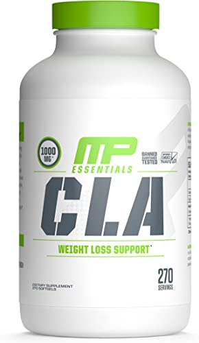 MP Essentials CLA 1000 High-Potency, Natural Weight-Loss Exercise Enhancement, Increase Lean Muscle Mass, Non-Stimulating, Gluten-Free, Non-GMO Conjugated Linoleic Acid, 270 count