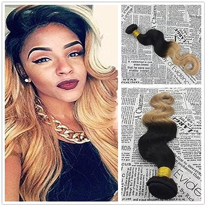 More Soo Ombre Brasil ianishes pelo auténtico Weave Extensions Natural Pelo Black to más color 100