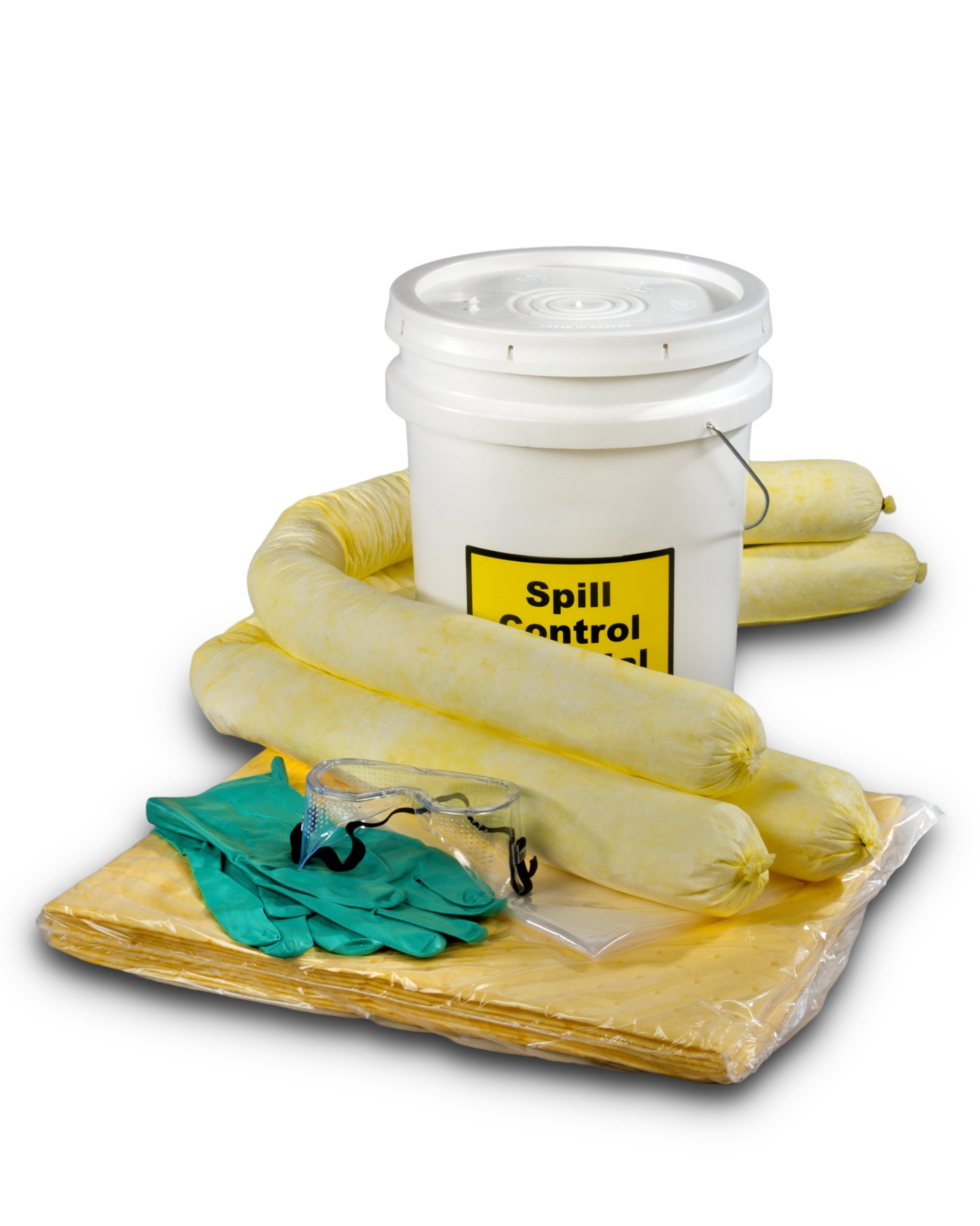ESP SK-H5 16 Piece 5 Gallons Hazmat Absorbent Spill Kit, 5 Gallons Oil Absorbency by ESP
