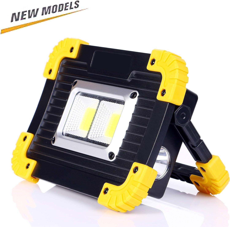 ALFLASH 1000Lumen Luz de trabajo LED portátil Recargable Reflector ...