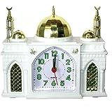 """Réveille-matin - en forme comme une Mosquée - sonne """"Azan"""" Appel Islamique à la Prière - Horloge Musulman Blanc"""