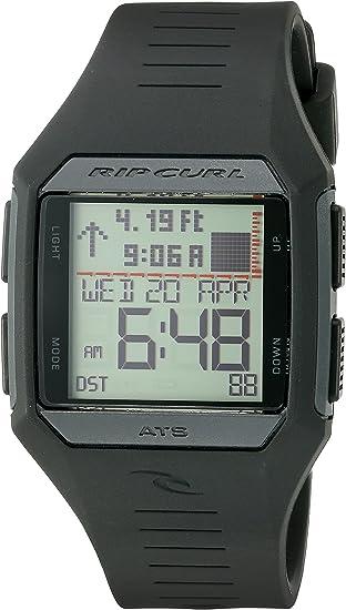 Rip Curl Men's Quartz Plastic and Polyurethane Sport Watch, Color:Black (Model: A1124BLB1SZ