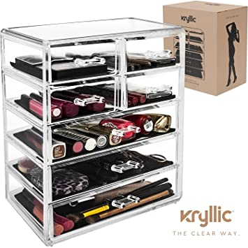 Amazoncom Makeup Organizer Jewelry Cosmetic Storage Large