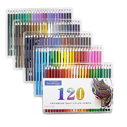 Amazon.com: 120 Oil Colored Pencils, Southsun Colored Pencils For ...