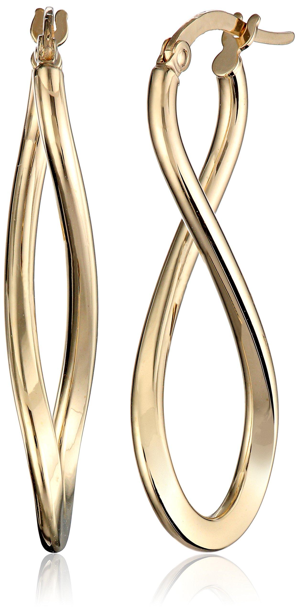 14k Yellow Gold Infinity Drop Earrings