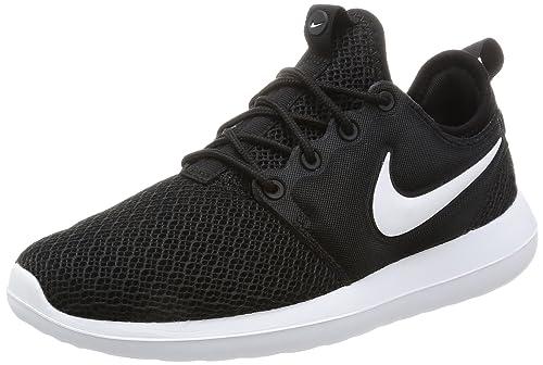 NIKE Roshe Two Women s Shoes Black Black White 844931-007 (5.5 B 05efc78107