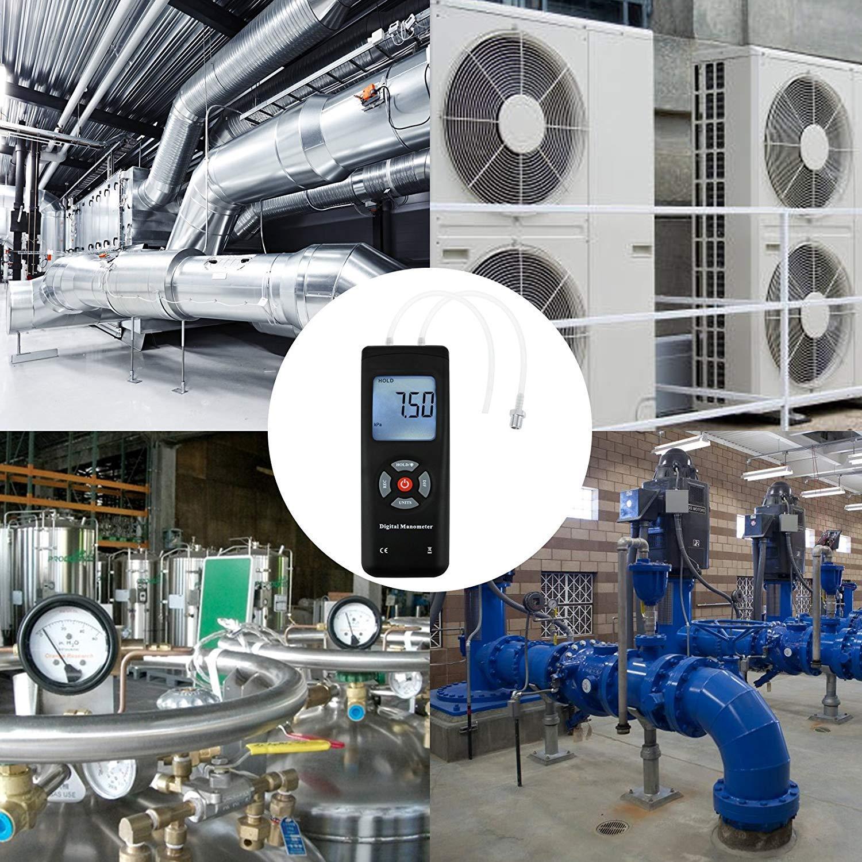 Digital Handheld Manometer HVAC Air Vacuum/Gas differential