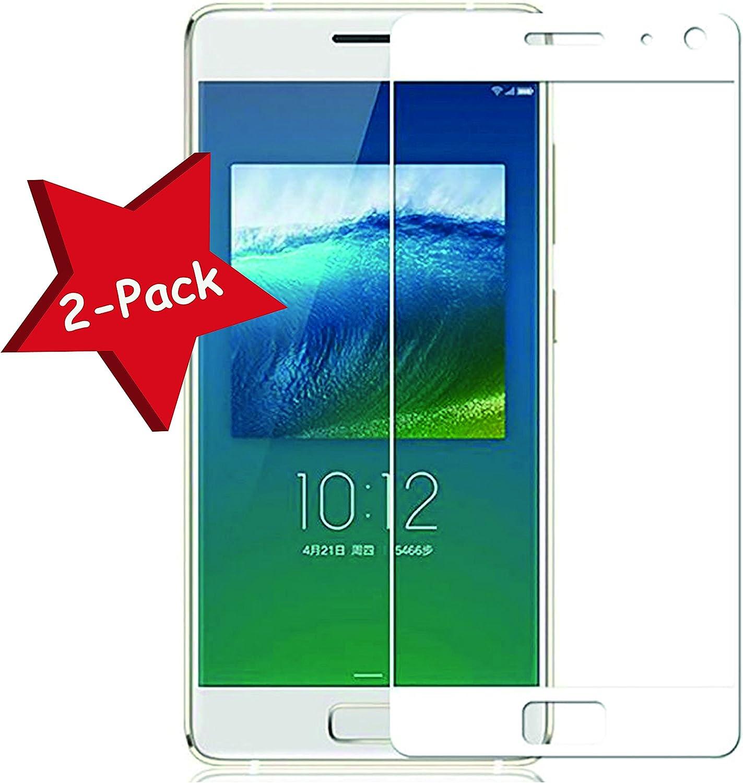 Funnytech® [Pack-2 Cristal Templado para Lenovo Zuk Z2 Pro Blanco ...