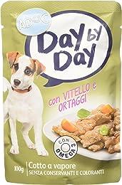 Adoc Day By Day Vitello e Ortaggi per cani adulti, confezione da 24 pezzi