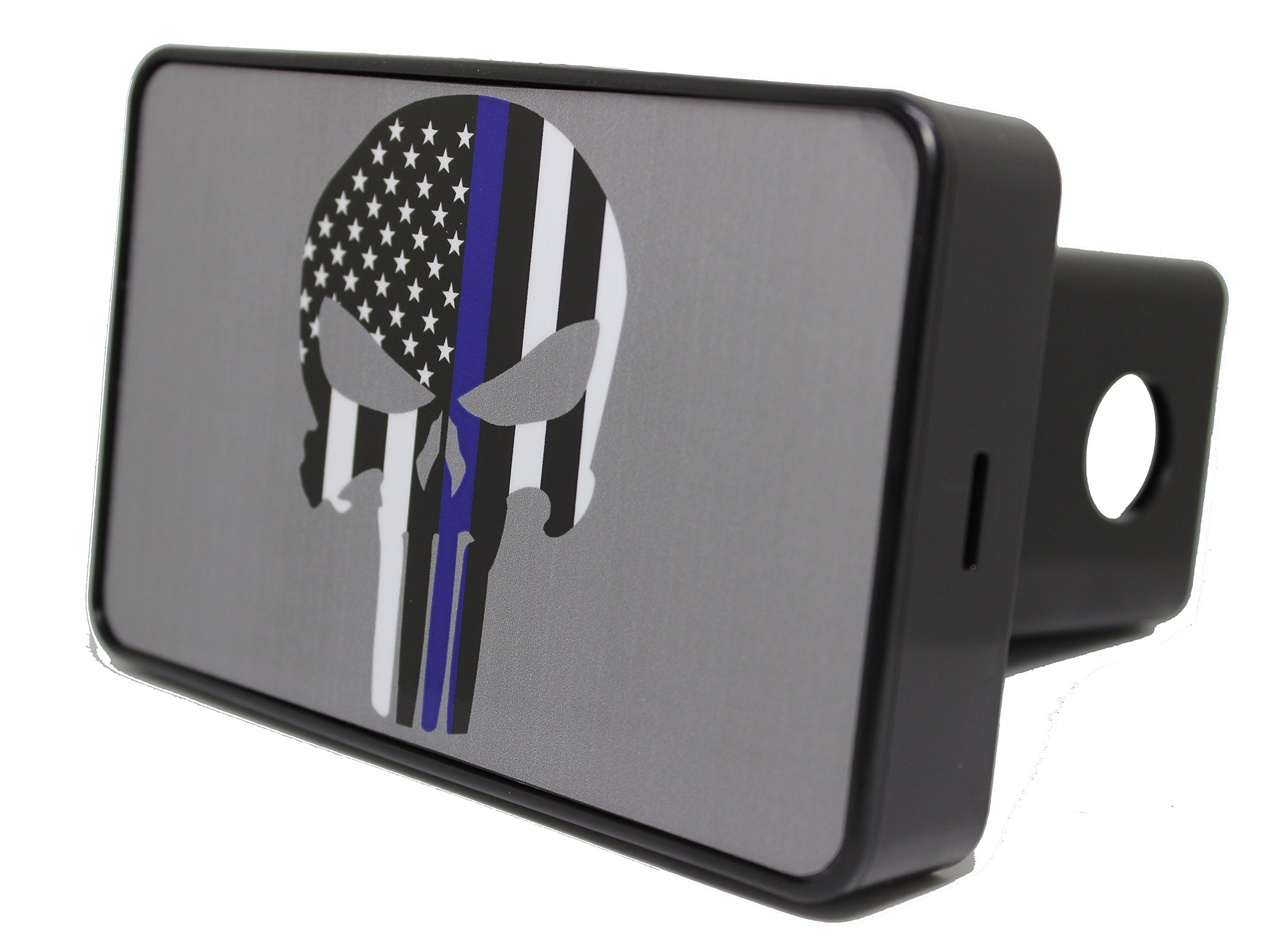 Bright Hitch - Blue Line Punisher Skull Hitch Cover by Bright Hitch