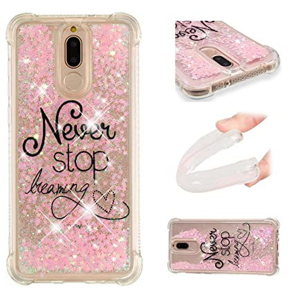 Amazon.com: for Huawei Mate 10 Lite Case Glitter Liquid and ...
