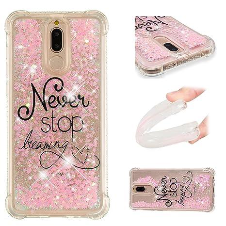 Amazon.com: for Huawei Mate 10 Lite Case Glitter Liquid and ...