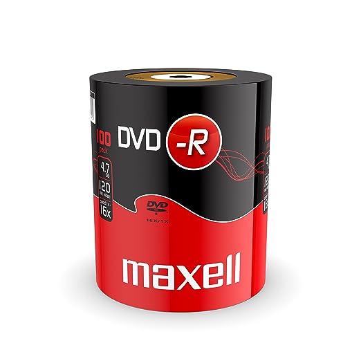 297 opinioni per DVD-R Maxell 16X, 4,7GB in shrink da 100 pezzi