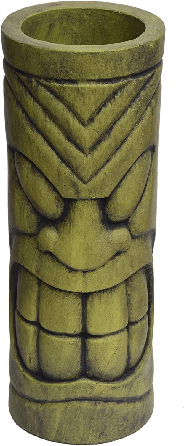 Christopher Knight Home 309258 Jayleen Outdoor Polynesian Urn, Antique Green Finish