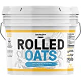 Rolled Oats, 1 Gallon Bucket by Unpretentious Baker, Highest Quality, Old Fashioned Oats, Whole Grain, Naturally Nutritious,