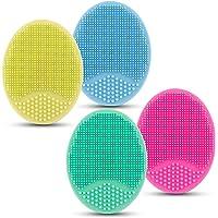 4 stuks siliconen gezichtsreinigingsborstel, gezichtsschrobber gezichtsmassageborstel voor porie mee-eters verwijderen…