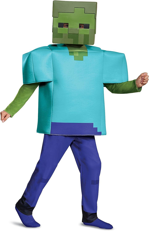 Minecraft 67684L - Disfraz de Zombi S (4-6 años), Azul, 109-126 cm ...