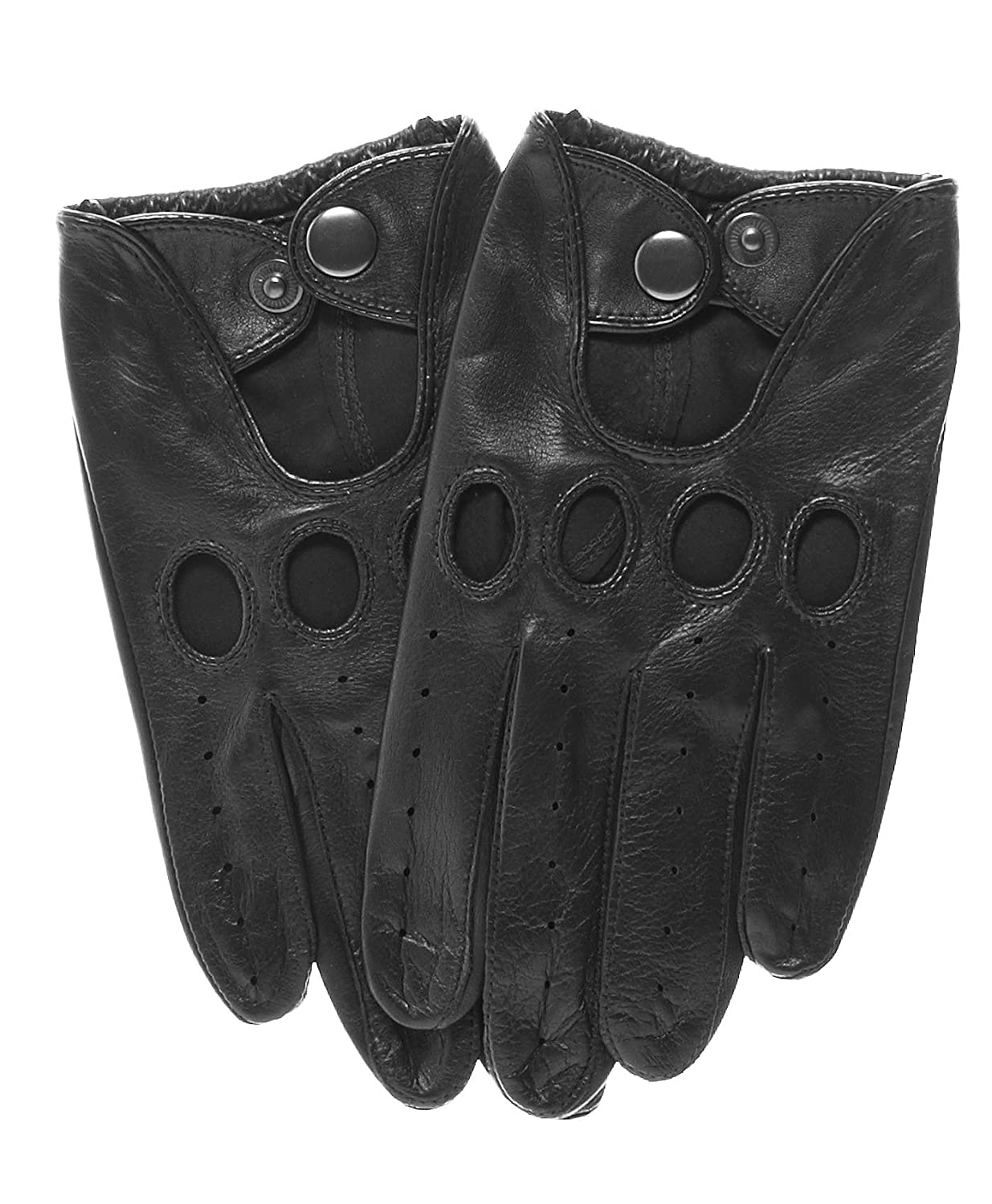 Shorty leather driving gloves fingerless - Pratt And Hart Touchscreen Leather Driving Gloves Size S Color Black At Amazon Men S Clothing Store
