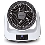 ecHome 9 Inch 3D Air Circulator 4 Speed Turbo Fan LED Thermometer Remote Control