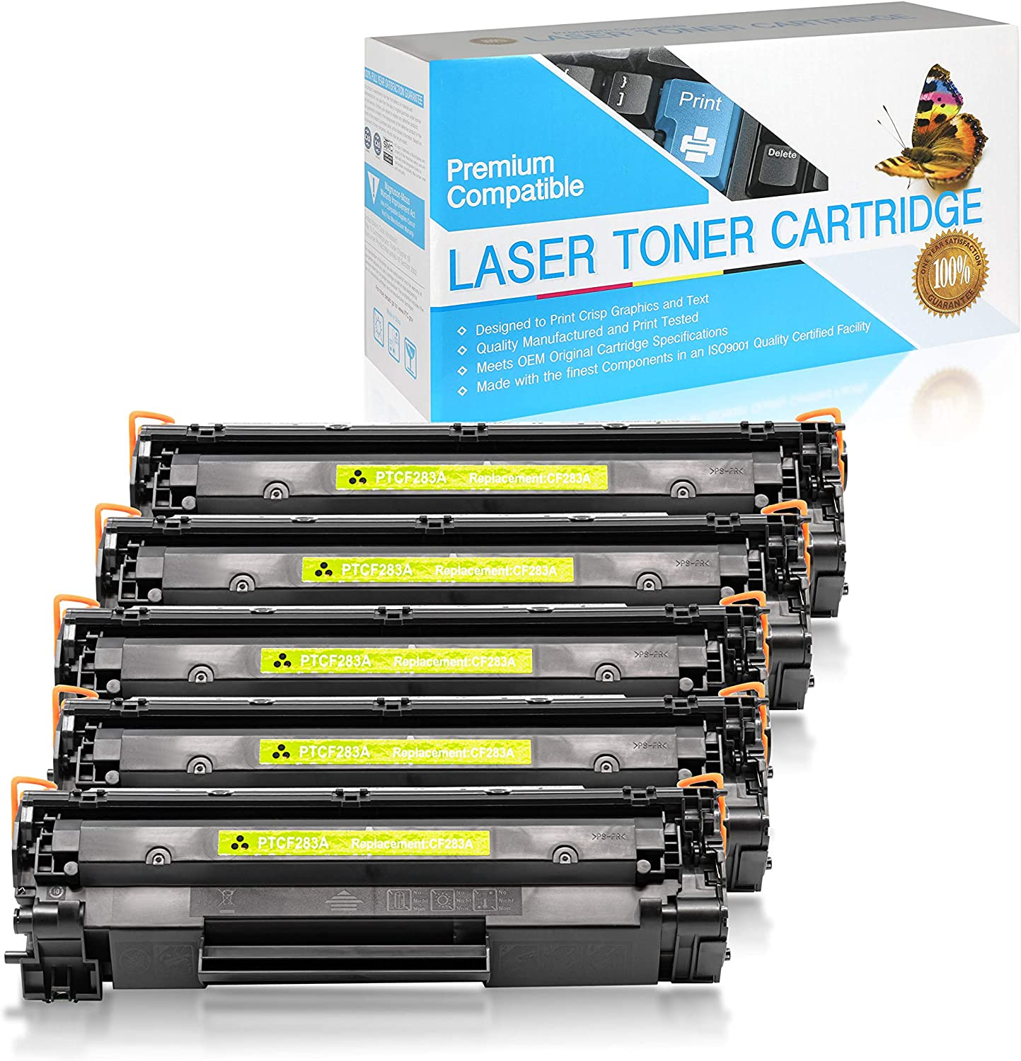 SuppliesOutlet Compatible Toner Cartridge Replacement for HP 83A CF283A Black,5 Pack
