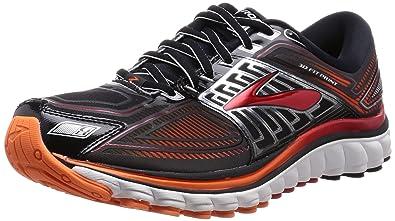 8b4b598093b30 Brooks Mens Glycerin 13 Black/High Risk Red/Silver Sneaker 8 D (M ...