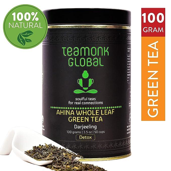 4a9508e7e37 Teamonk Darjeeling Long Leaf Organic Green Tea, 100 Grams