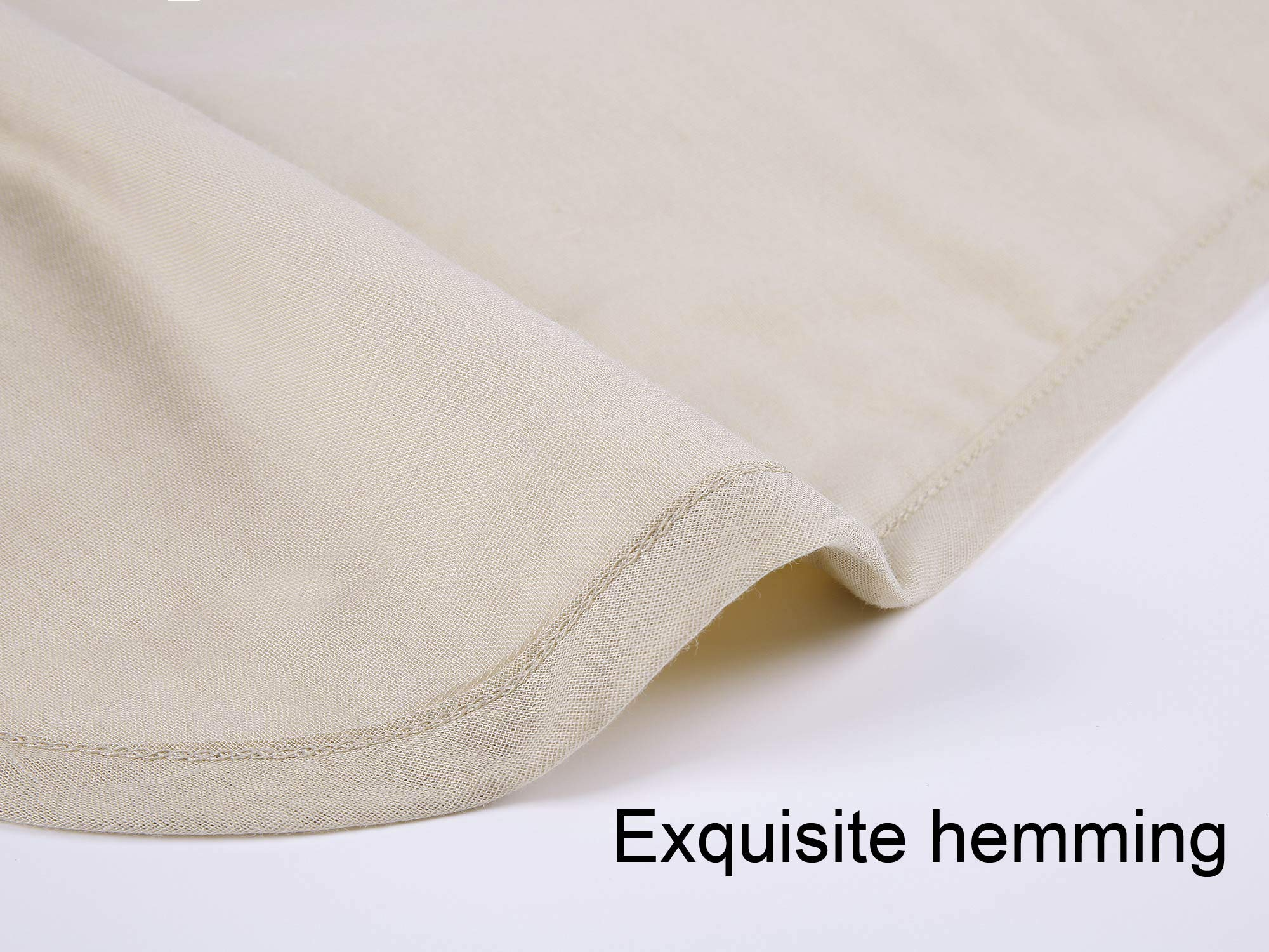 GYS Ultra Soft and Lightweight 100% Organic Cotton Hospital/Home Blanket (Twin Size, 30 Ounce, 58.3''x82.7''), Summer Quilt with 5 Layers of Organic Cotton, Flaxen by GYS (Image #3)
