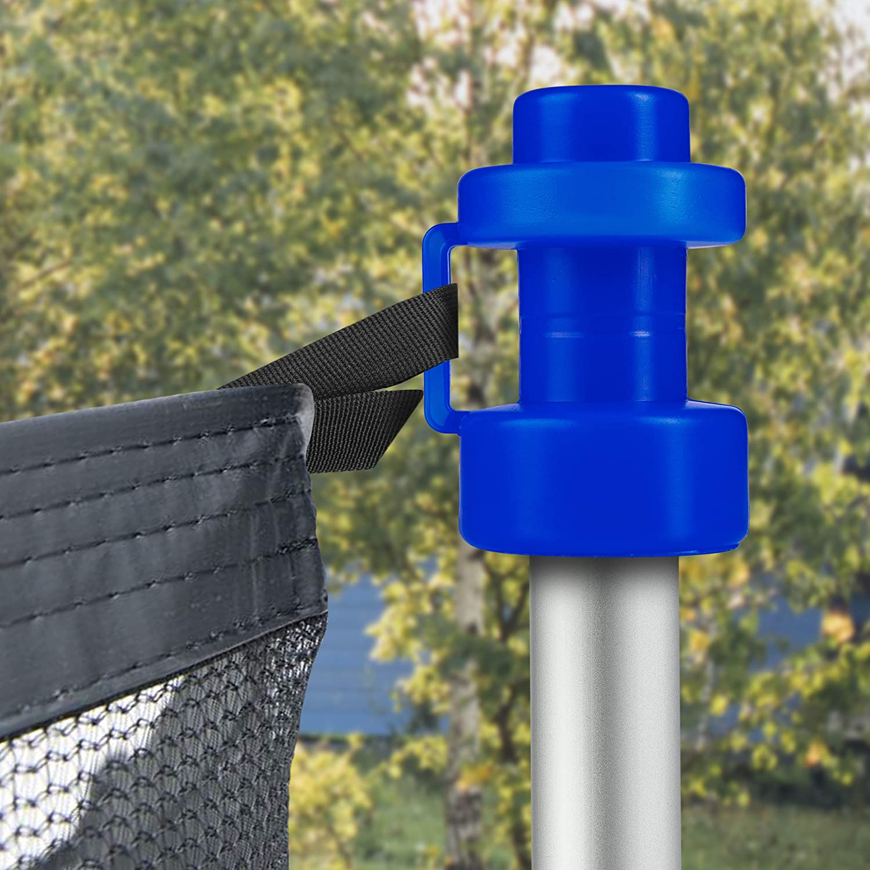 Onvaya/® Lot de 8 embouts pour trampoline bleu