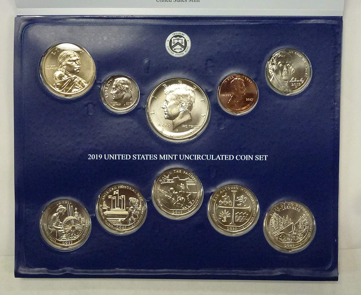 2000 State Quarters P /& D Uncirculated Set Sealed Mint Cello 10 Coin Lot