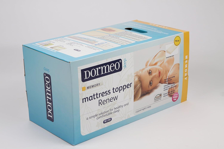 Dormeo Octaspring Matras : Dormeo renew double mattress topper 135 x 190 x 3.5 cm cream