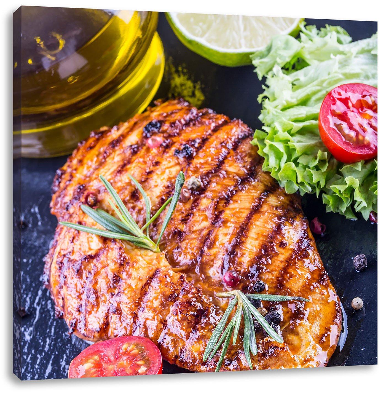 Grillmeister Steak, Format: 60x60 auf Leinwand, XXL riesige Bilder ...