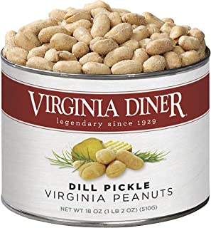 product image for Virginia Diner - Gourmet Extra Large Dill Pickle Seasoned Virginia Peanuts, 18 Ounce Tin