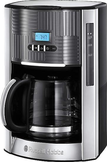 Russell Hobbs 25270-56/RH - Cafetera de goteo (jarra cristal, 18 tazas, 1000 W, digital) color gris metálico: Amazon.es: Hogar