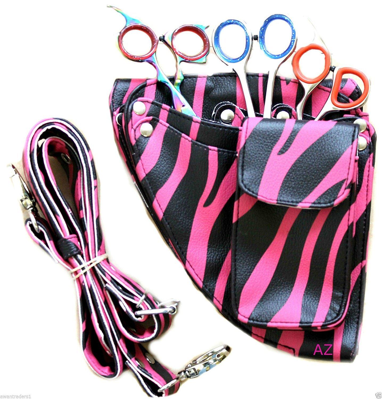 Friseur Schere Tasche / Frisur Werkzeuge Tasche / Schere Tasche. Rosa Zebra ... Awans HL2