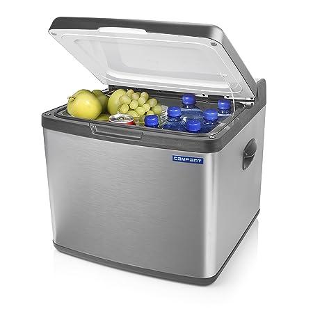 Campart Kühlbox mit 41L Fassungsvermögen [geräuschearm, 230V-, 12V- und Gasbetrieb möglich], Innenraumfläche (27x43x37cm), CB