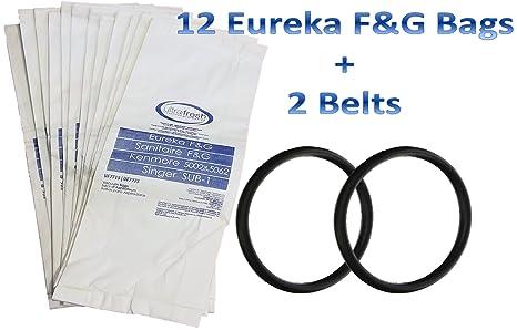 Amazon.com: 12 bolsas para aspiradora Eureka estilo F ...