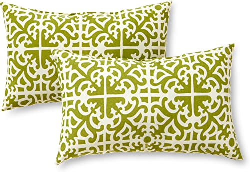 Greendale Home Fashions Rectangle Outdoor Accent Pillows, Grass, Set of 2