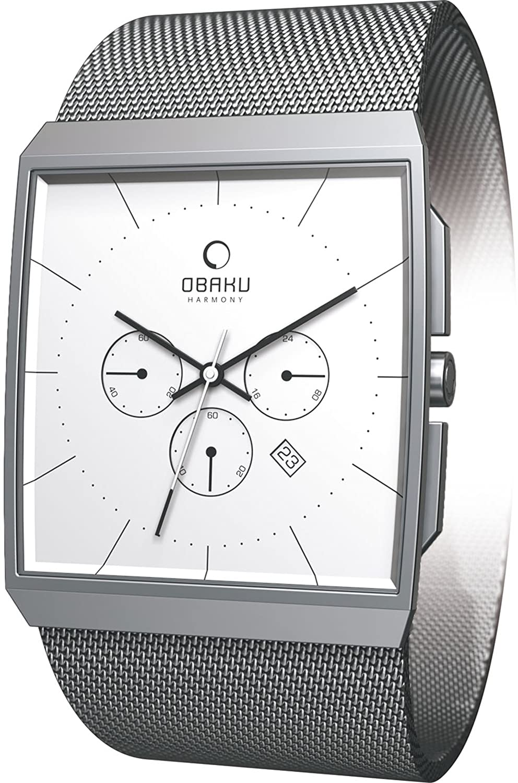 Obaku Harmony Herren-Armbanduhr V126G CIMC Titanglas