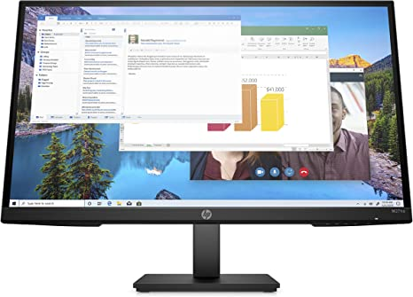 Amazon Com Hp M27ha Fhd Monitor Full Hd Monitor 1920 X 1080p Ips Panel And Built In Audio Vesa Compatible 27 Inch Monitor Designed For Comfortable Viewing With Height And Pivot Adjustment