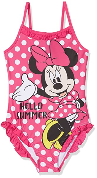 Minnie Mouse Bambina Costume da Bagno Un Pezzo