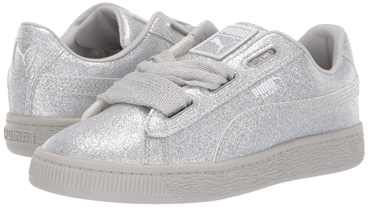 best website 85dfd b5c77 Puma Girls - Basket Heart Patent Kids: Amazon.co.uk: Shoes ...