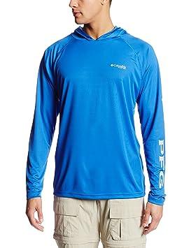 9af1a89d88d Columbia Men's Terminal Tackle Hoodie, Vivid Blue/Cool Grey Logo, Small