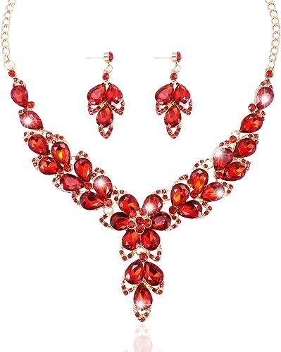 NE/_ EG/_ Womens Fashion Waterdrop Rhinestone Bib Statement Stud Dangle Earrings