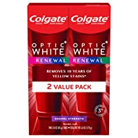 Colgate Optic White Renewal Teeth Whitening Toothpaste, pack of 2