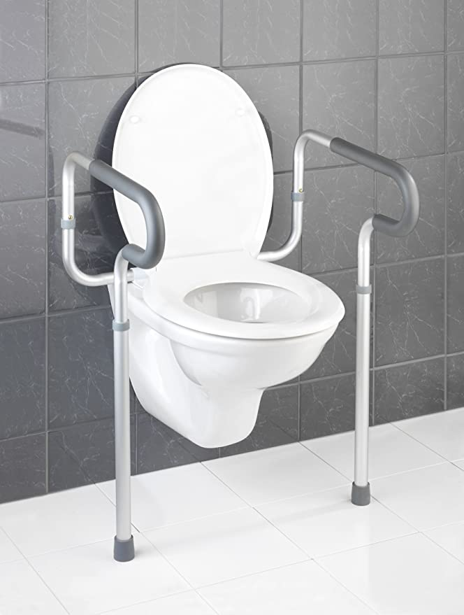 Wenko Asistente para Taza de WC, Aluminio, Plateado, 48x55.5x81.5 cm: Amazon.es: Hogar