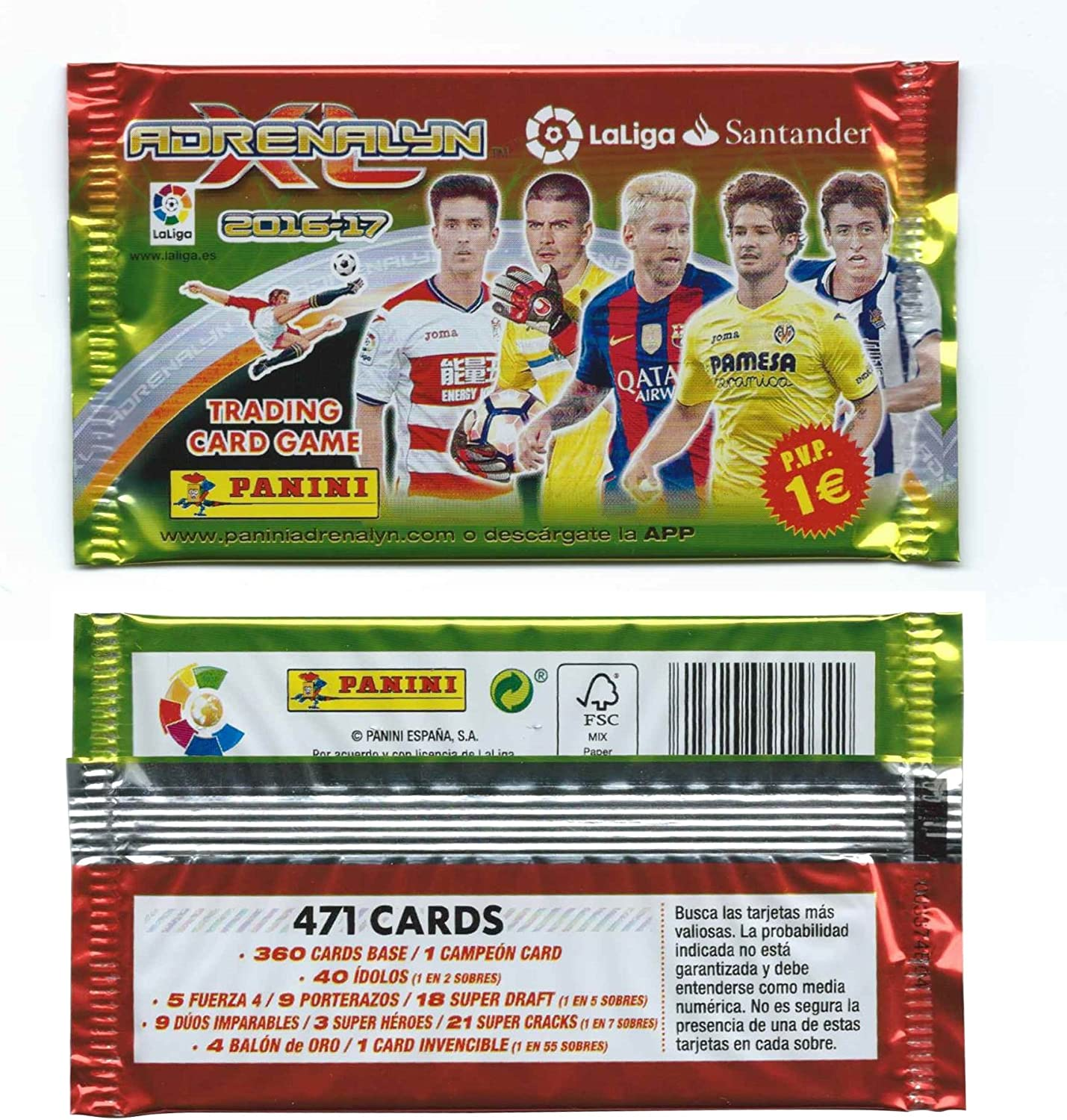 Pack Para Coleccionar LaLiga Trading Card Game Adrenalyn XL 2016 ...