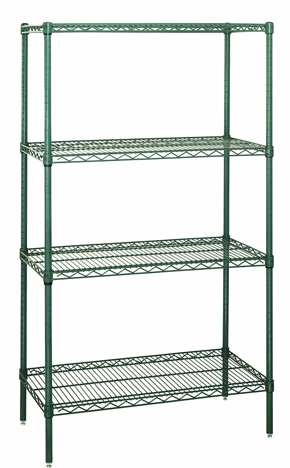 Proform Finish 24 Width x 72 Length x 74 Height Quantum Storage Systems WR74-2472P Starter Kit for 74 High 4-Tier Wire Shelving Unit 600 lb Per Shelf Capacity